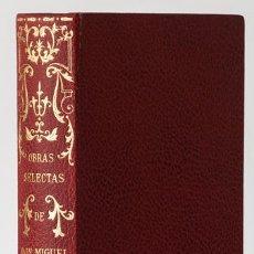 Libros: UNAMUNO, MIGUEL DE: OBRAS SELECTAS (PLENITUD) (CB). Lote 138184442