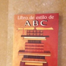 Libros: LIBRO DE ESTILO DE ABC (EDITORIAL ARIEL). Lote 138770709