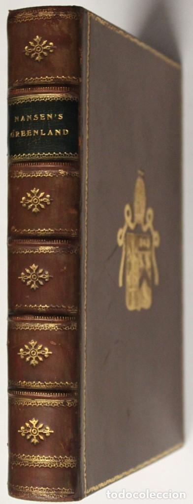 Libros: THE FIRST CROSSING OF GREENLAND. - NANSEN, Fridtjof. - Foto 11 - 109021195