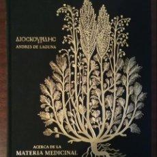 Libros: PEDACIO DIOSCORIDES ANAZARBEO. Lote 140038610