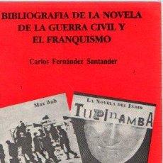 Libros: BIBLIOGRAFÍA DE LA NOVELA DE LA GUERRA CIVIL Y EL FRANQUISMO - FERNÁNDEZ, CARLOS. Lote 140359344