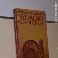 Libros: ADAGIO CONFIDENCIAL MERCEDES SALISACHS - POPULAR PLANETA -. Lote 140431762