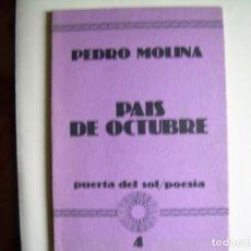 Libros: MHE57 PEDRO MOLINA, PAIS DE OCTUBRE, 1ª EDICION, 1981. Lote 140747338