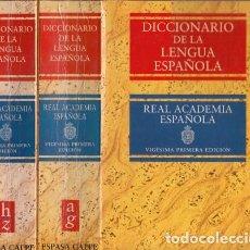 Libros: DICCIONARIO DE LA LENGUA ESPAÑOLA. REAL ACADEMIA ESPAÑOLA - ESPASA CALPE. Lote 140758077