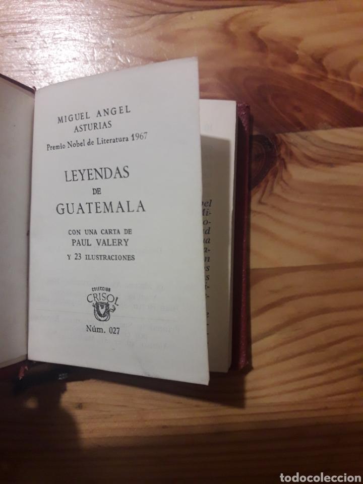 MIGUEL ANGEL ASTURIAS LEYENDAS DE GUATEMALA CRISOL PAUL VALERY (Libros sin clasificar)