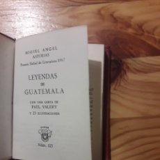 Libros: MIGUEL ANGEL ASTURIAS LEYENDAS DE GUATEMALA CRISOL PAUL VALERY. Lote 141582229