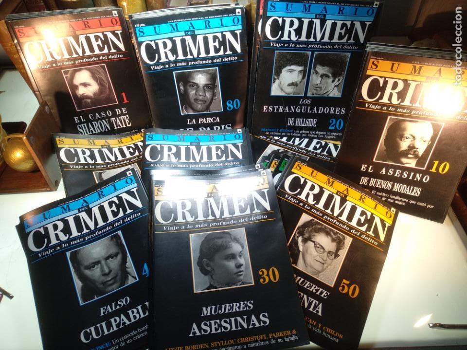 LOTAZO DE 96 FASCÍCULOS DE LA COLECCIÓN SUMARIO DEL CRIMEN - EDIC. DEL DRAC - 1991 - MADRID - (Libros sin clasificar)