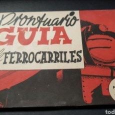 Libros: PRONTUARIO GUÍA FERROCARRILES TRENES 1945. Lote 141946594