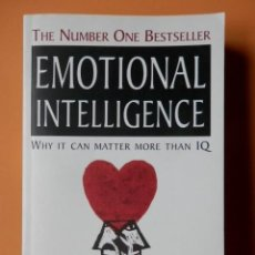 Libros: EMOTIONAL INTELLIGENCE. WHY IT CAN MATTER MORE THAN IQ - DANIEL GOLEMAN. Lote 192025958