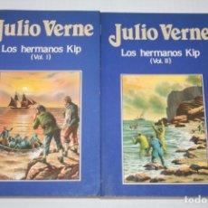 Libros: LOS HERMANOS KIP (JULIO VERNE) *** 2 VOLUMENES - LIBROS DE NOVELA AVENTURA ** EDICIONES ORBIS (1987). Lote 142388562