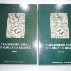 Libros: CANCIONEIRO GERAL DE GARCÍA DE RESENDE (4 VOLÚMENES) Y91317. Lote 142701758
