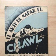 Libros: JOHNNY WEISSMULLER (TARZÁN) EL ARTE DE NADAR EL CRAWL. MÉXICO: LUXOR, 1939. Lote 143026394