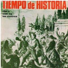 Libros: TIEMPO DE HISTORIA. AÑO V. Nº 55. DIEZ TESTIMONIOS DE LA GUERRA DE ESPAÑA; JUAN ARANZADI: MILENARIST. Lote 143115337