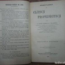 Libros: MHE57 LEON CORRAL MAESTRO, PRONTUARIO DE CLINICA PROPEDEUTICA, 1905, VALLADOLID, 528 PAGINAS. Lote 143130574