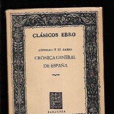 Libros: PRIMERA CRONICA GENERAL DE ESPAÃ?A. Lote 143352273