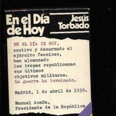 Libros: EN EL DIA DE HOY. Lote 143352277