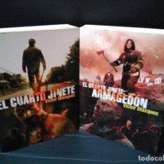Libros: LOTE 2 LIBROS VÍCTOR BLÁZQUEZ. EL CUARTO JINETE - EL CUARTO JINETE ARMAGEDÓN. MUY BUEN ESTADO. Lote 143623982