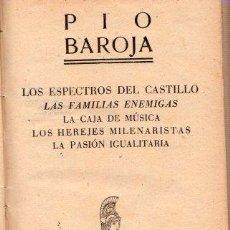 Libros: LOS ESPECTROS DEL CASTILLO/LAS FAMILIAS ENEMIGAS/LA CAJA DE MÚSICA/LOS HEREJES MILENARISTAS/LA PASIÓ. Lote 143672933