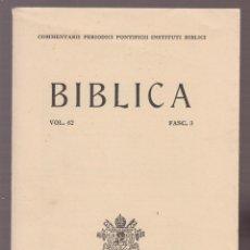 Libros: BIBLICO FASC 3 ESCRTO EN ALEMAN 452 PAGINAS AÑO 1981 LR5348. Lote 143681266