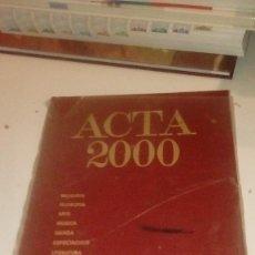 Libros: G-LIV1619 LOTE DE TRES LIBROS ACTA 2000 SOCIEDAD RELIGION Y CULTURA TECNOLOGIA. Lote 143748866