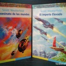 Libros: SUCESIÓN 1 Y 2. EL ASESINATO DE LOS MUNDOS Y EL IMPERIO ELEVADO. SCOTT WESTERFELD.. Lote 143831778