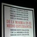 Libros: DE LA MISERIA EN EL MEDIO ESTUDIANTIL. EL VIEJO TOPO. Lote 144719434