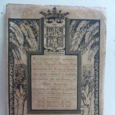 Livros em segunda mão: CENTENARIO DEL NACIMIENTO DE LEÓN Y CASTILLO. CABILDO INSULAR 1942. Lote 145590470