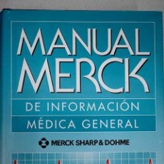 Libros: MANUAL MERCK DE INFORMACIÓN MÉDICA GENERAL. Lote 145781266