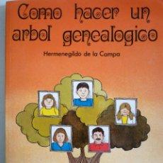 Libros: COMO HACER UN ARBOL GENEALOGICO - HERMENEGILDO DE LA CAMPA. Lote 146482762