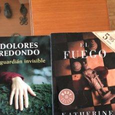 Libros: EL FUEGO DE KATHERINE NEVILLE - EL GUARDIÁN INVISIBLE DE DOLORES REDONDO. Lote 147565442