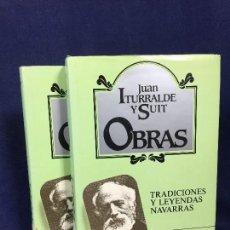 Libros: TRADICIONES Y LEYENDAS NAVARRAS PRIMEDA EDICION LIMITADA JUAN ITURRALDE Y SUIT OBRAS 1990 COMPLETO. Lote 147901074