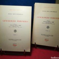Libros: GENEALOGÍAS HABANERAS - TOMOS 1 Y 2 - RAFAEL NIETO CORTADELLAS - HIDALGUÍA, 1979 Y 1980. Lote 148191520