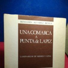 Libros: UNA COMARCA A PUNTA DE LÁPIZ, LAMINARIUM DE MIERES Y LENA - BENXA ÁLVAREZ - SUMMA, 1975. Lote 148195998