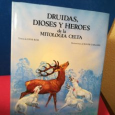 Libros: DRUIDAS, DIOSES Y HÉROES DE LA MITOLOGÍA CELTA - ROSS/GARLAND - ANAYA, 1988. Lote 148226721