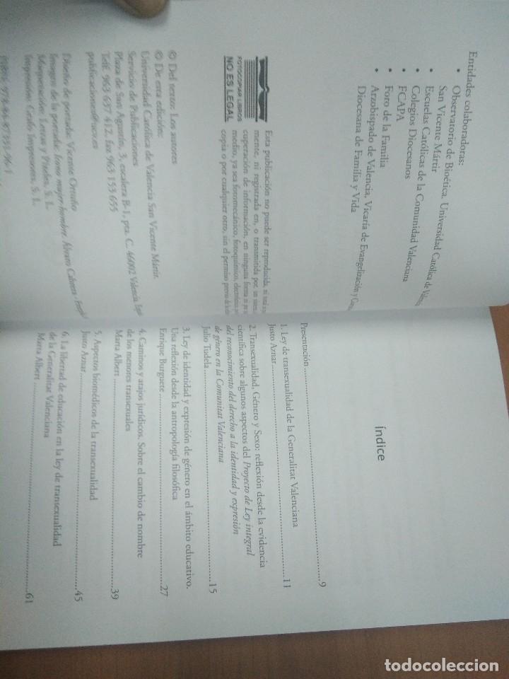 Libros: Análisis de la Ley de Transexualidad. Universidad Católica de Valencia. - Foto 3 - 148623094
