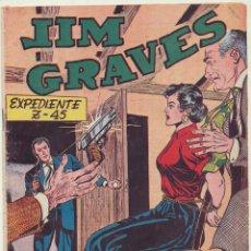 Libros: JIM GRAVES Nº 30. SELECCIÓN AVENTURERA. TORAY 1954.. Lote 148755470