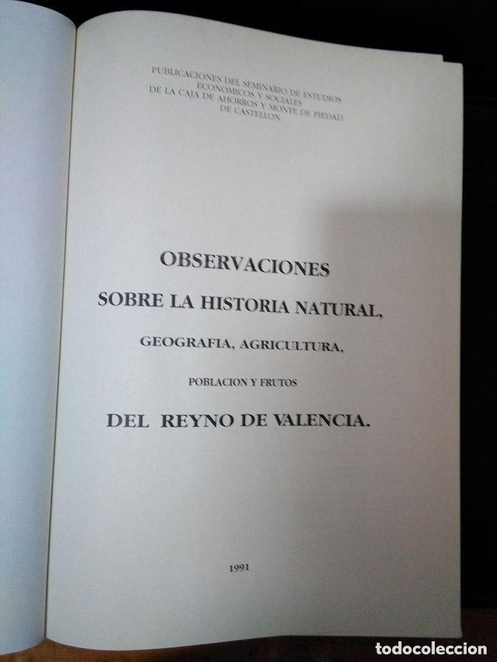 Libros: Observaciones historia natural, geografía, agricultura, población y frutos de Valencia. Cavanilles - Foto 2 - 149562170