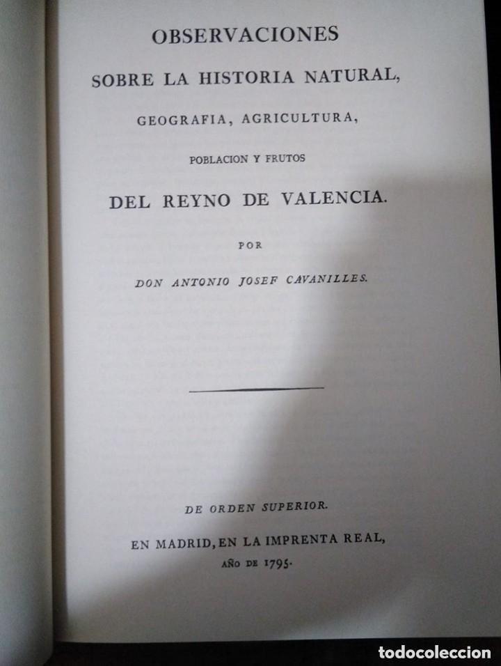 Libros: Observaciones historia natural, geografía, agricultura, población y frutos de Valencia. Cavanilles - Foto 3 - 149562170