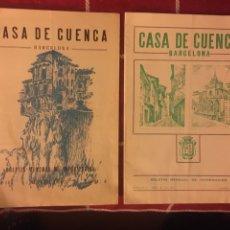 Libros: CASA DE CUENCA ( BARCELONA)2 PROGRAMAS. Lote 150479174