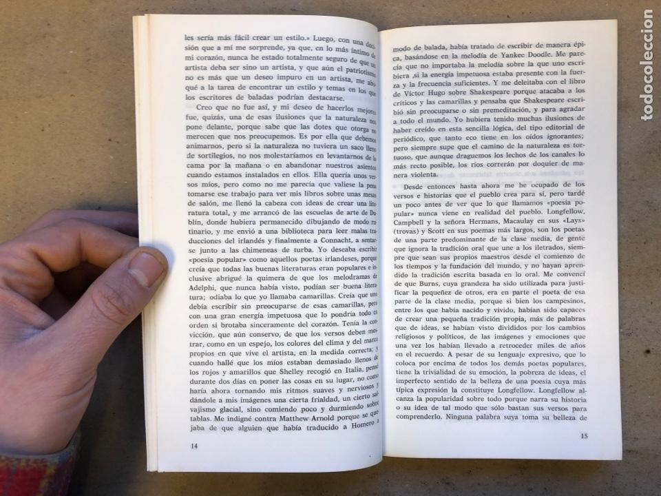 Libros: IDEAS SOBRE EL BIEN Y EL MAL. WILLIAM BUTLER YEATS. COLECCIÓN LA FONTANA MAYOR 4. EDICIONES FELMAR - Foto 4 - 150950901