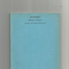 Libros: DESTIERRO. - GRACIA, TERESA:. Lote 151145456