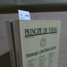 Libros: HOMENAJE A JOSE MARIA LACARRA (2 VOLUMENES). ANEJOS 2 Y 3- 1986 DE LA REVISTA PRINCIPE DE VIANA. - A. Lote 151822065