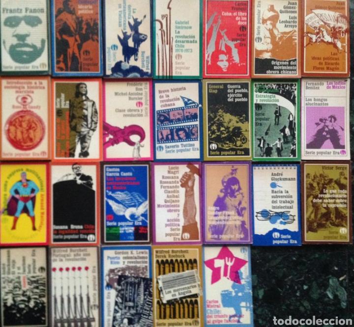 GRAN LOTE 26 LIBROS EDITORIAL ERA SERIE POPULAR POLITICA - PUBLICADOS EN MÉXICO 1970S (Nicht eingeordnete Bücher)