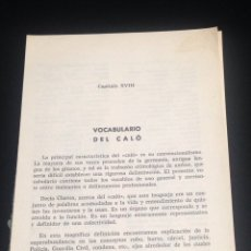 Libros: VOCABULARIO DEL CALO,CAPITULO XVIII,DE LA A A LA Z.. Lote 152171406