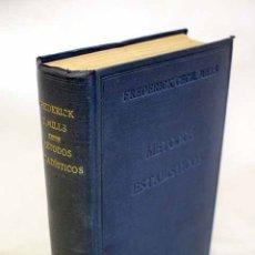 Libros: MÉTODOS ESTADÍSTICOS APLICADOS A LA ECONOMÍA Y A LOS NEGOCIOS. Lote 152384132
