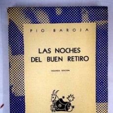 Libros: LAS NOCHES DEL BUEN RETIRO. Lote 152391761
