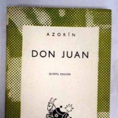 Libros: DON JUAN. Lote 152391802