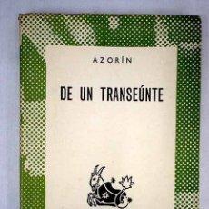 Libros: DE UN TRANSEÚNTE. Lote 152391817
