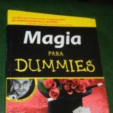 Libros: MAGIA PARA DUMMIES, DE DAVID POGUE . GRANICA 2009. Lote 152644374
