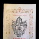 Libros: HERÁLDICA DEL PRIORATO DE REUS, 1972, EJEMPLAR 316. Lote 155590970